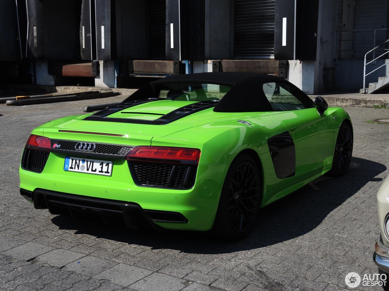 Audi R8 Spyder Looks Great In Lambo Green