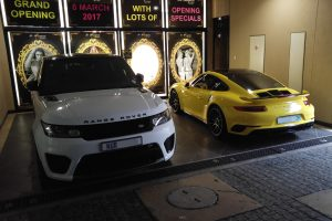range rover svr porsche 991.2 turbo s yellow south africa