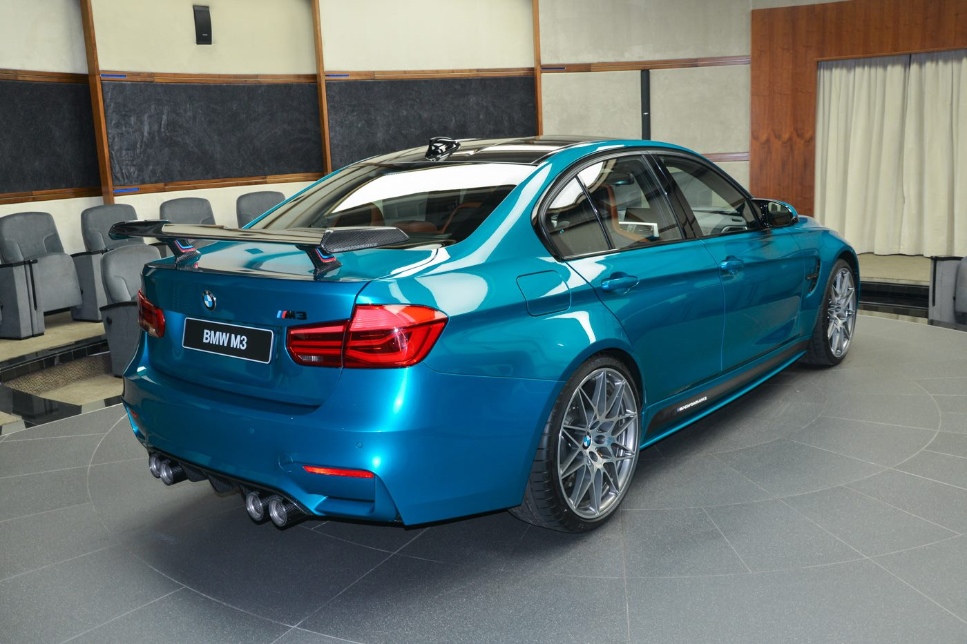 Atlantis Blue Bmw M3 Looks Astonishing With M Performance Goodies
