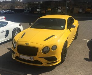 yellow bentley continental supersports south africa