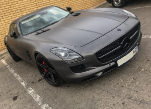 matte grey mercedes-benz sls amg south africa
