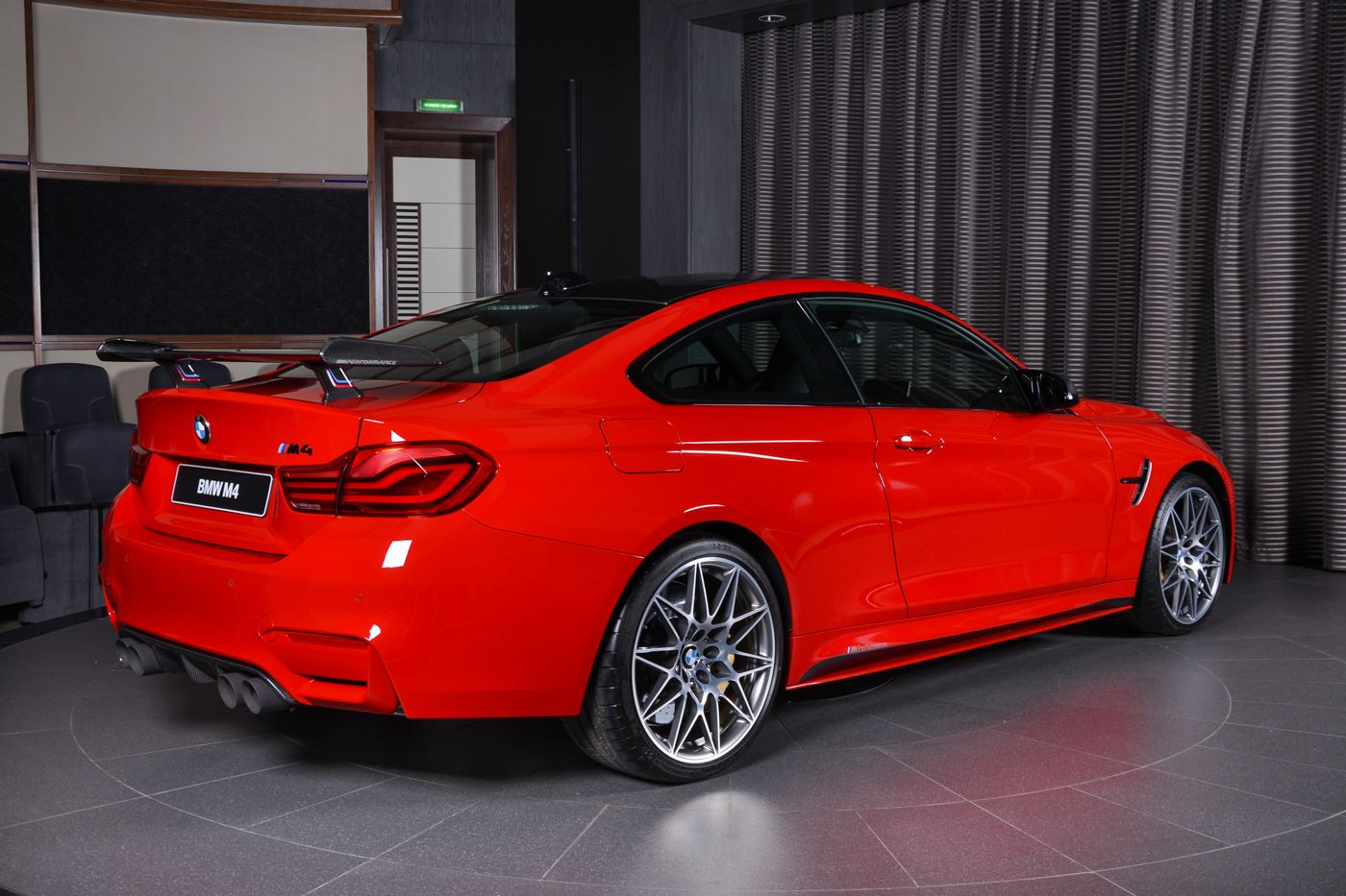 Ferrari Red Bmw M4 Oozing Sex Appeal With M Performance