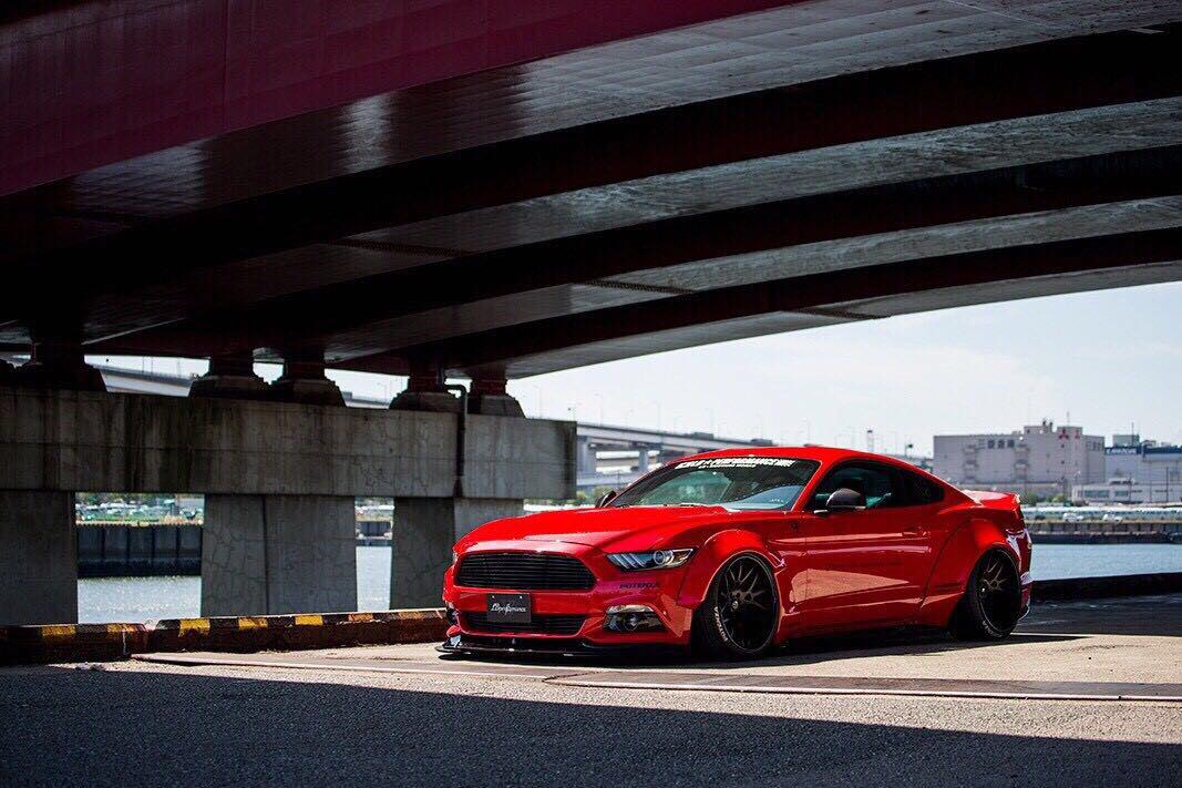 Wide Body Ford Mustang By Liberty Walk Revealed