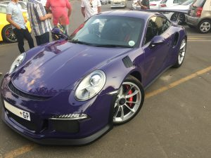purple porsche 992 gt3 rs south africa