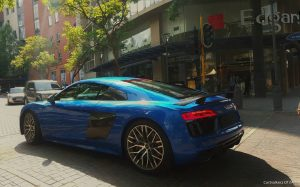 blue audi r8 v10 plus south africa