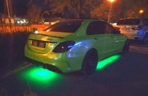 heavy k mercedes c63 green neon lights south africa