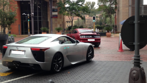 lexus lfa ford mustang south africa