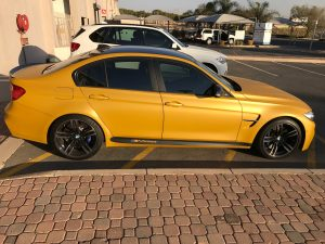 yellow bmw m3 south africa