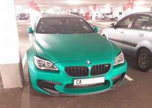 green blue bmw m6 wrap south africa