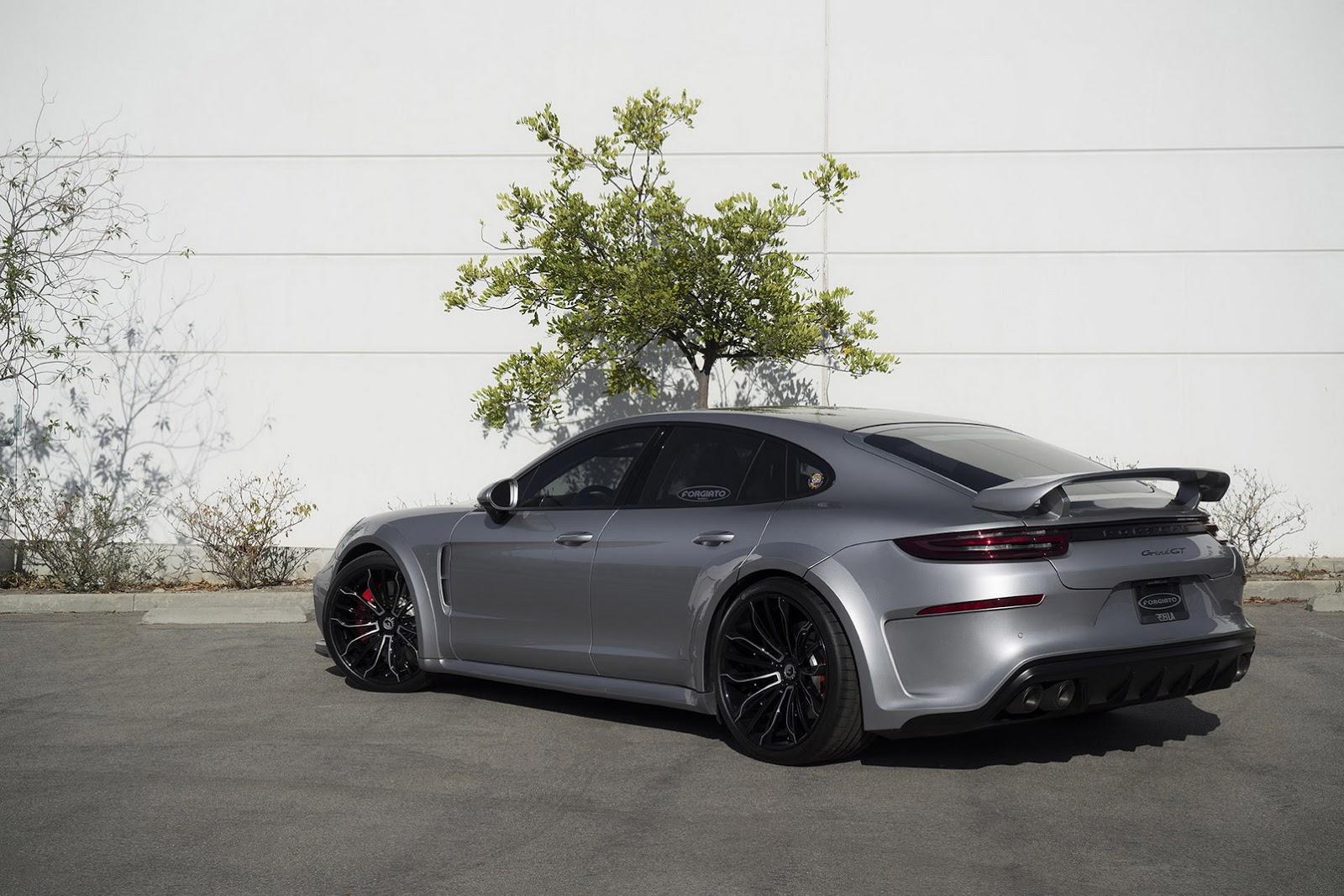 New Porsche Panamera Sports TechArt Kit And Forgiato Wheels