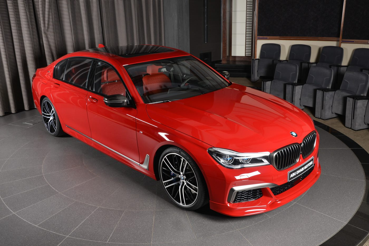 Imola Red BMW M760Li xDrive With 3D Design Kit Looks The ...