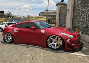 liberty walk nissan gtr red south africa