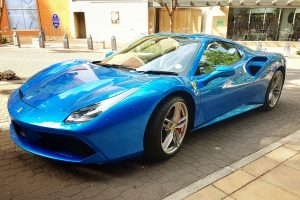 blue ferrari 488 spider south africa