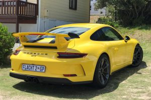racing yellow porsche 991.2 gt3 south africa