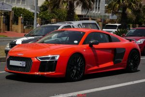 red audi r8 v10 plus south africa