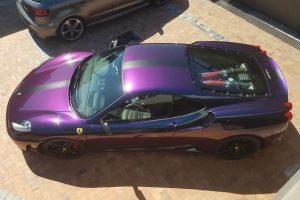 purple ferrari f430 south africa