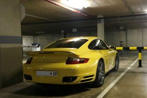 yellow porsche turbo south africa