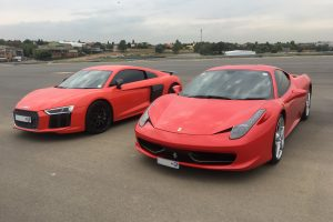 audi r8 v10 plus ferrari 458 south africa