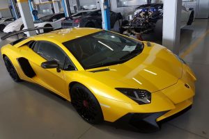 yellow lamborghini aventador sv south africa