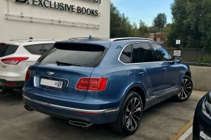blue bentley bentayga south africa