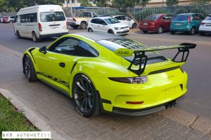 lime green porsche 991 gt3 rs south africa