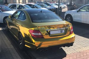 gold wrapped mercedes benz c63 south africa