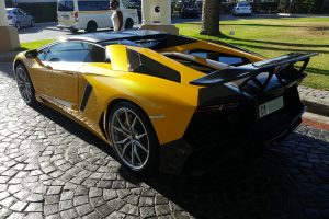 yellow lamborghini aventador dmc wing south africa