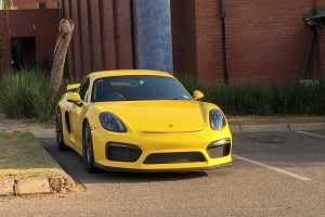 yellow porsche cayman gt4 south africa