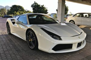 white ferrari 488 spider south africa