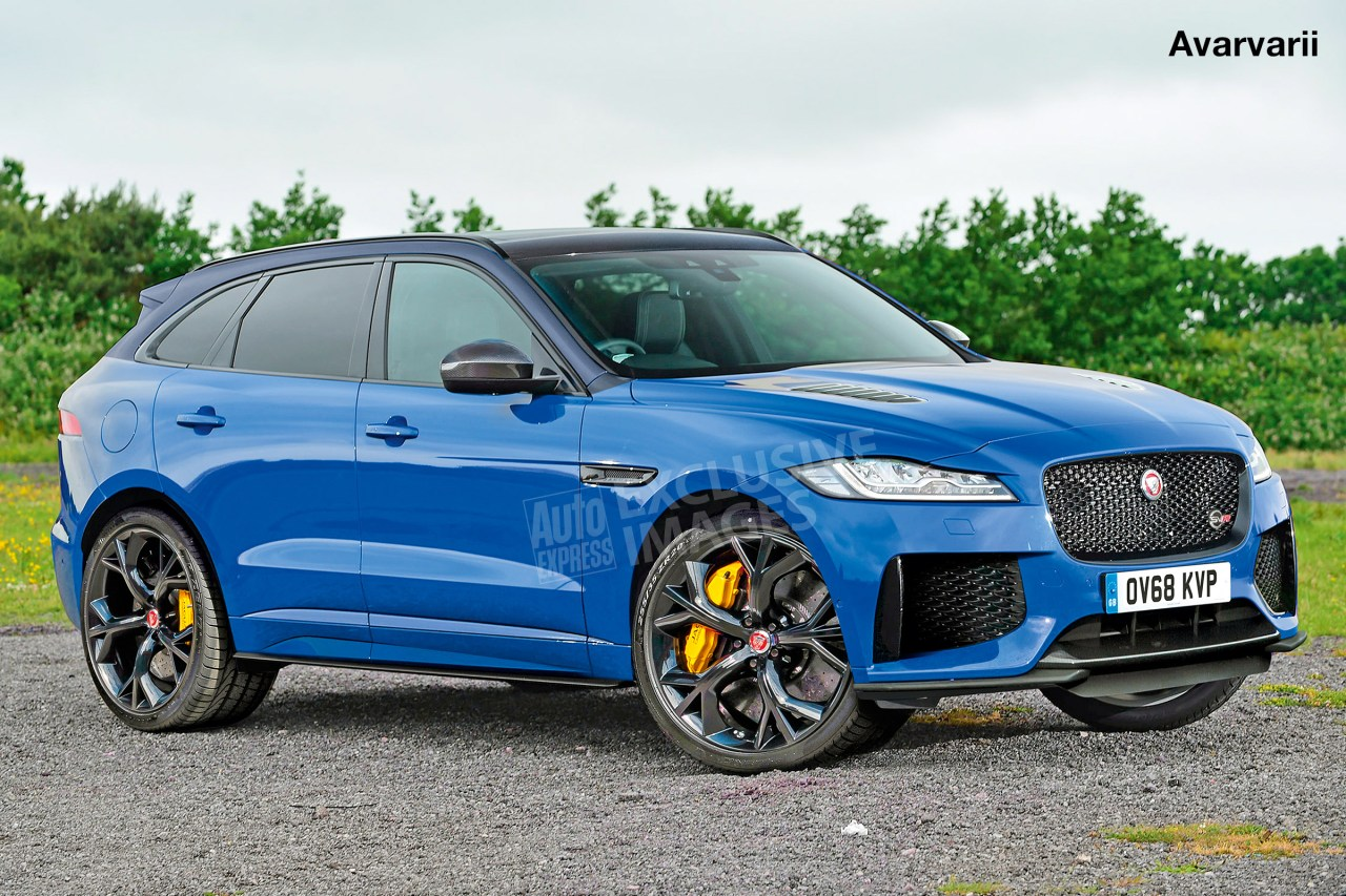 jaguar f pace svr will be revealed on wednesday at new york motor show. Black Bedroom Furniture Sets. Home Design Ideas