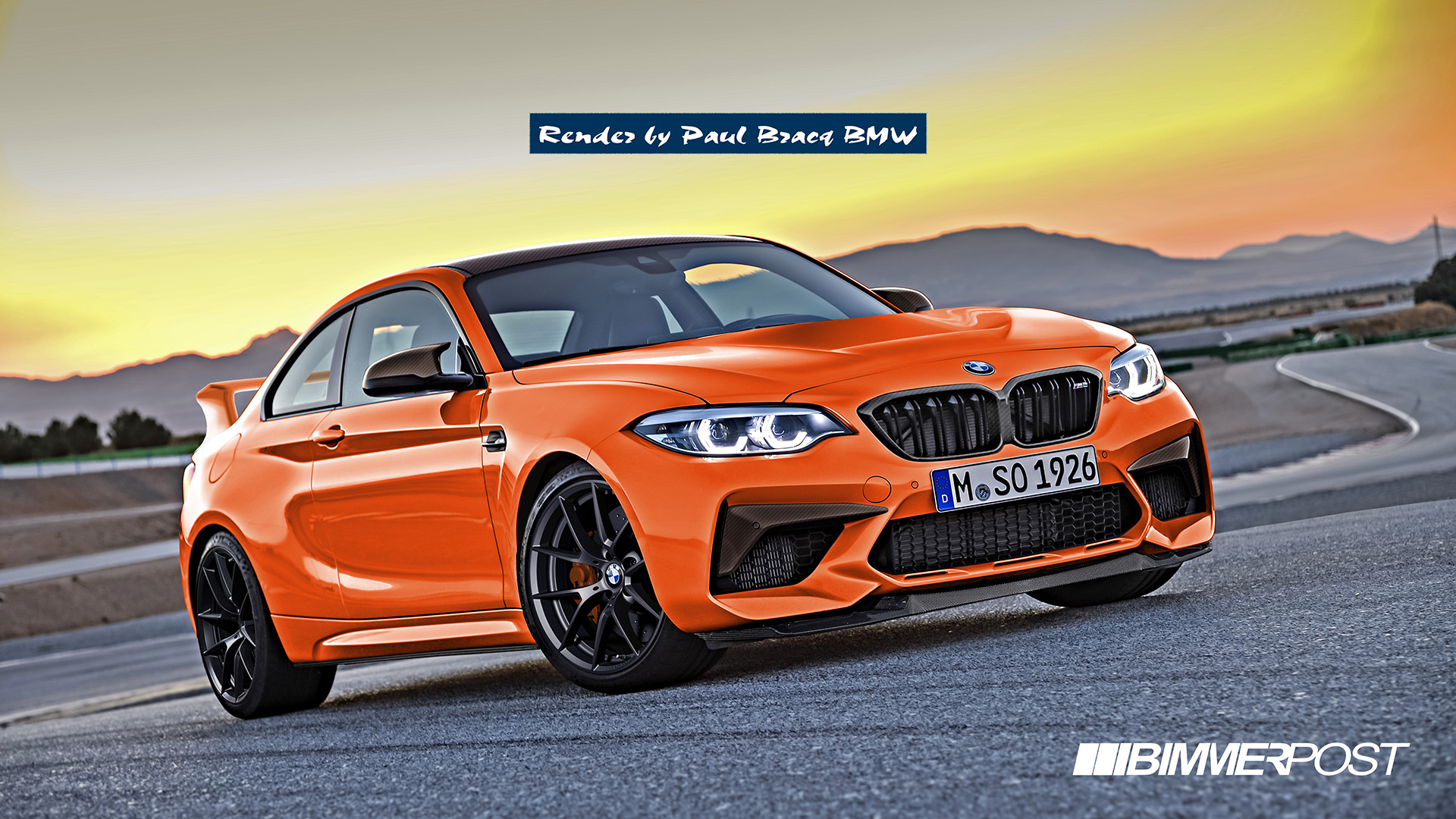 bmw m2 csl rendered from m2 competition. Black Bedroom Furniture Sets. Home Design Ideas