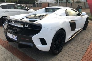 white mclaren 675lt spider south africa
