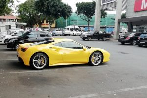 yellow ferrari 488 spider south africa