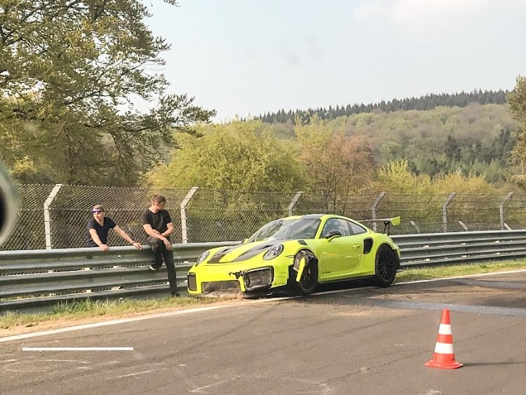 3 Day Old Porsche 911 Gt2 Rs Crashes On The Nurburgring