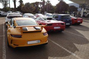yellow porsche gt3 ferrari 458 italia south africa