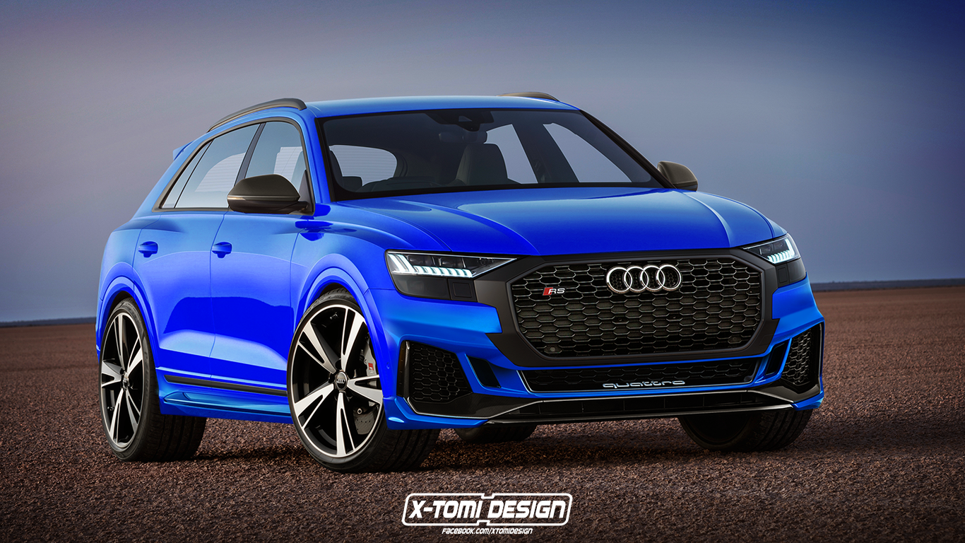 audi rs q8 will be the most powerful production audi ever thanks to hybrid v8. Black Bedroom Furniture Sets. Home Design Ideas