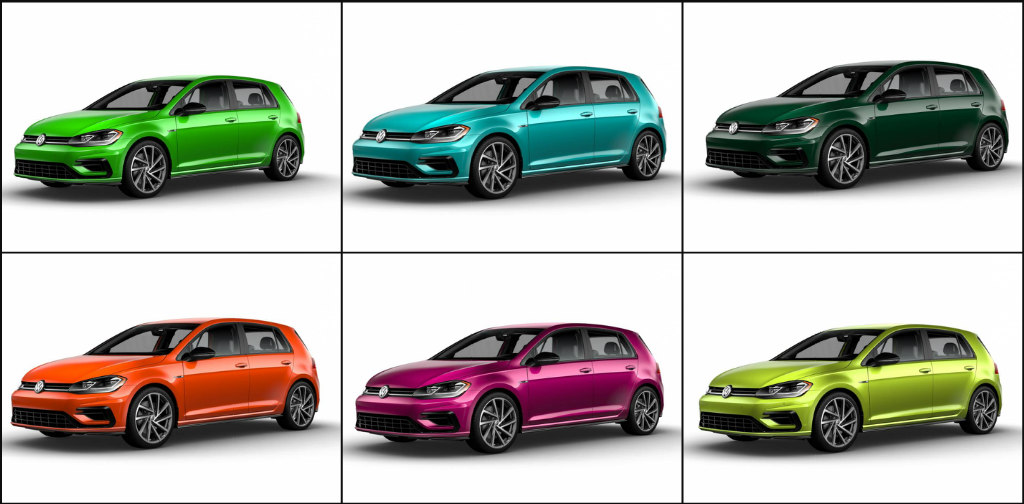 You Can Paint Your Vw Golf R In Crazy Colours If Live Canada Or America