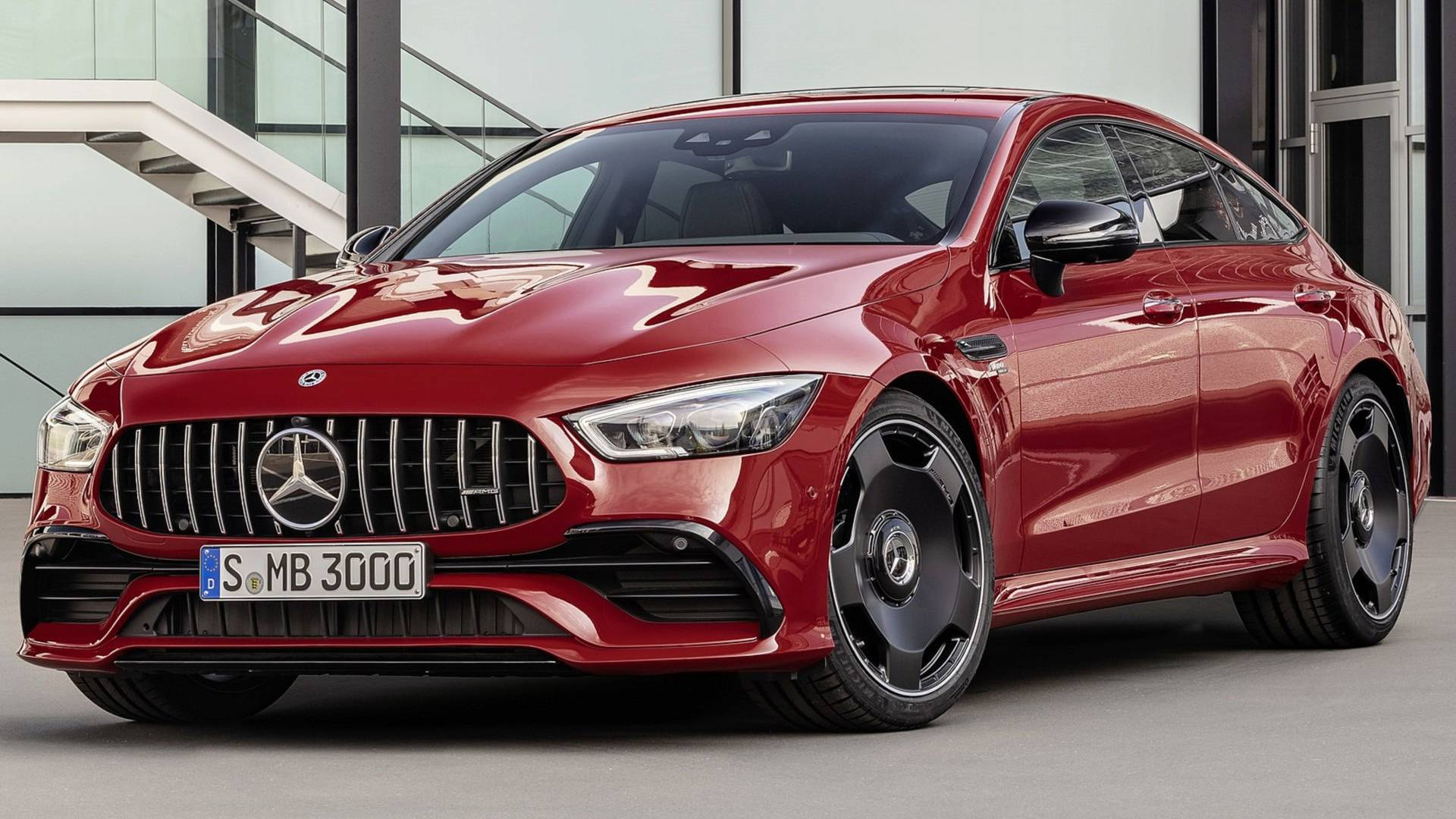 mercedes amg reveal gt 43 4 door coup packing an inline six. Black Bedroom Furniture Sets. Home Design Ideas