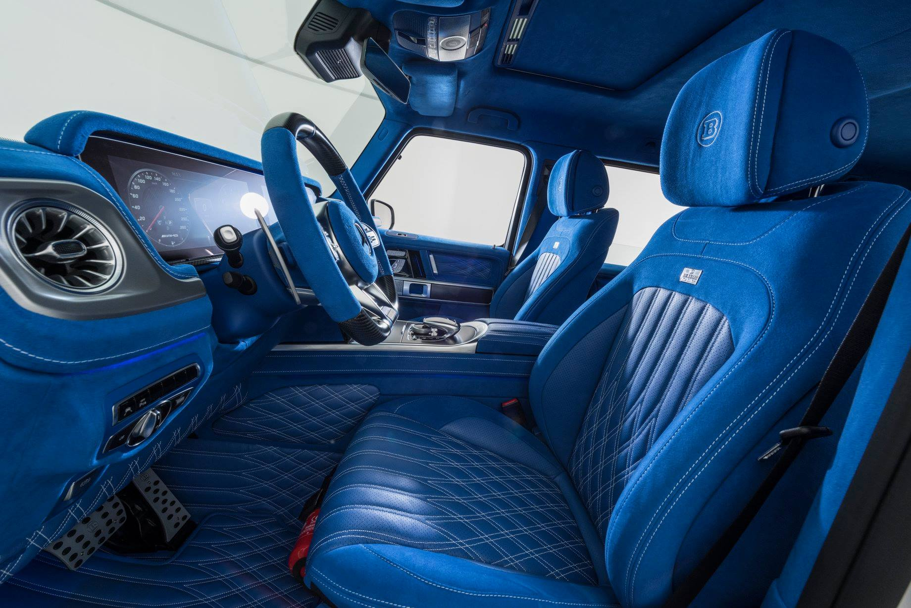 Bright Blue Brabus Interior For Your Mercedes Amg G63
