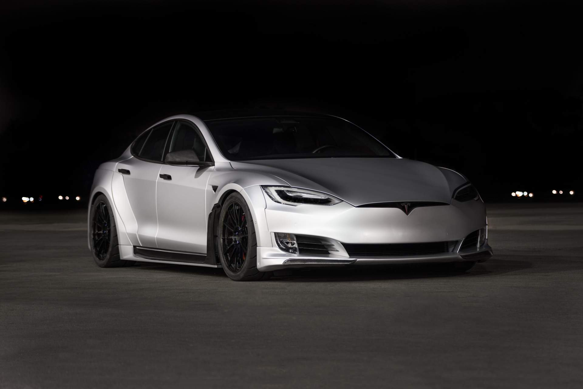 unplugged performance tesla model s widebody kit costs a. Black Bedroom Furniture Sets. Home Design Ideas