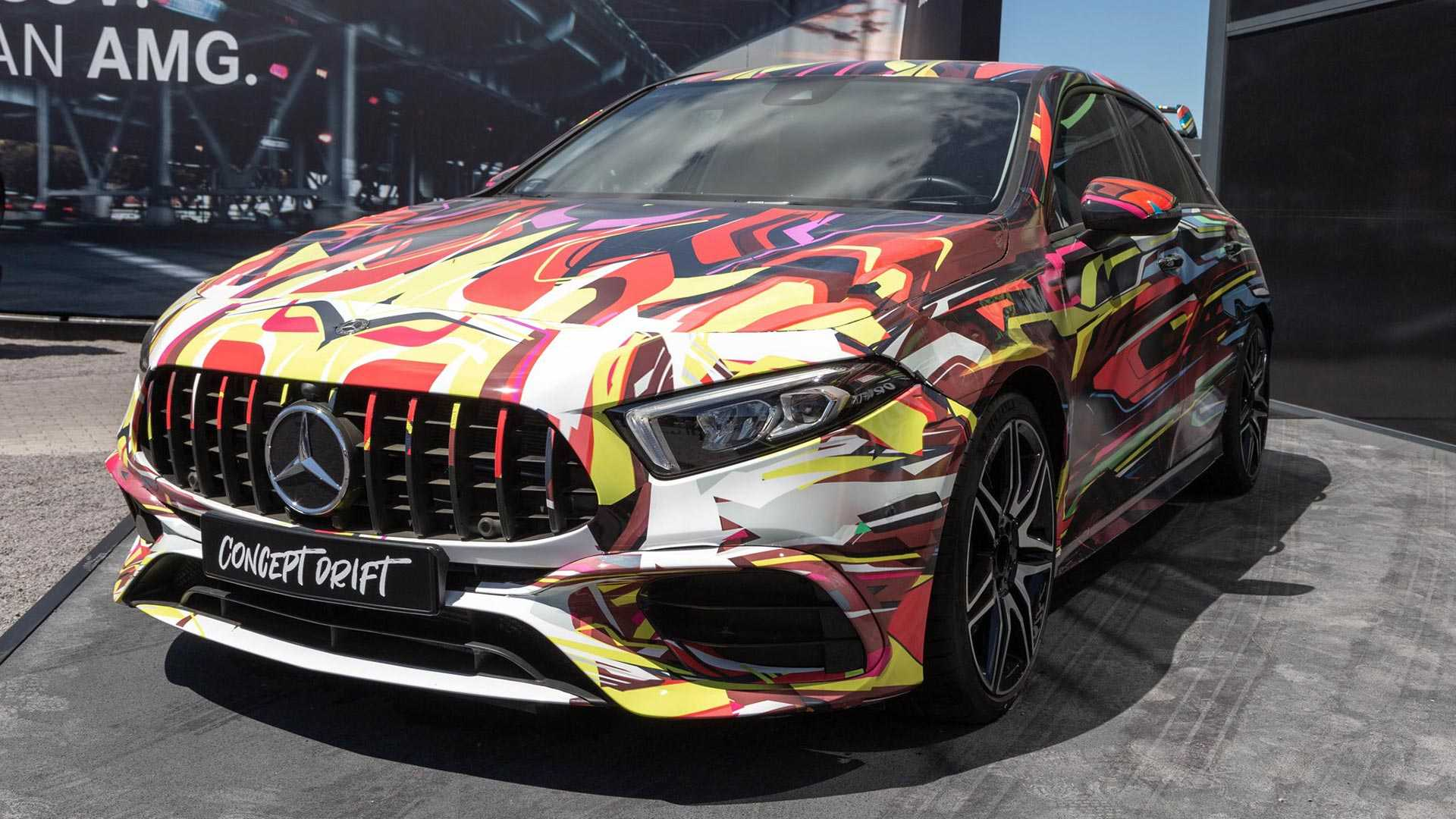 Mercedes Amg A45 Concept Drift Gives Us Our Best Look Yet